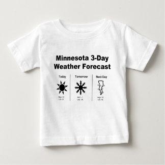 Previsión metereológica de Minnesota Playera De Bebé