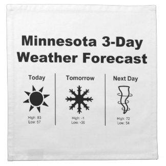 Previsión metereológica de Minnesota Servilletas Imprimidas