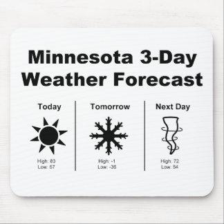 Previsión metereológica de Minnesota Tapete De Ratón