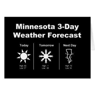 Previsión metereológica de Minnesota Tarjeta De Felicitación