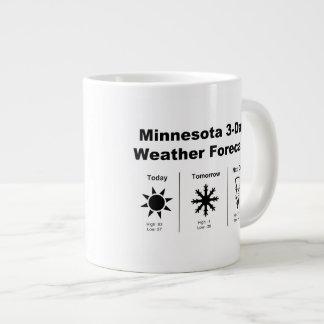 Previsión metereológica de Minnesota Taza De Café Grande