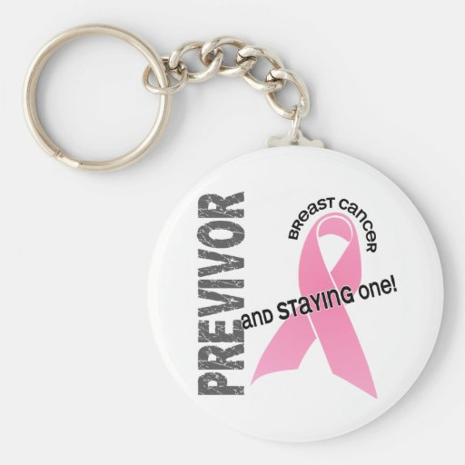 Previvor 1 Breast Cancer Key Chain