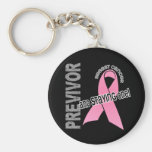 Previvor 1 Breast Cancer Keychains