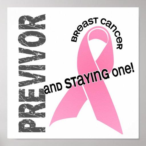 Previvor 1 Breast Cancer Poster