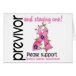 Previvor 9 Breast Cancer Greeting Cards