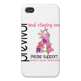 Previvor 9 Breast Cancer Covers For iPhone 4