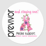 Previvor 9 Breast Cancer Stickers