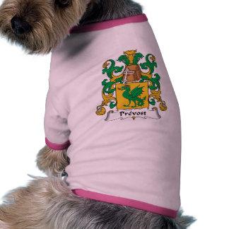 Prevost Family Crest Dog Tee Shirt