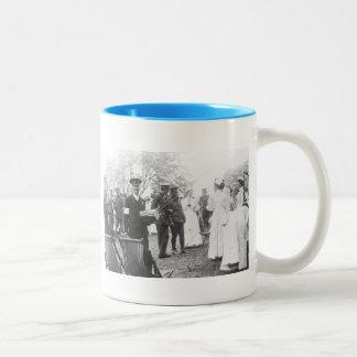 Prewar Field Days British Military Nurses Two-Tone Coffee Mug