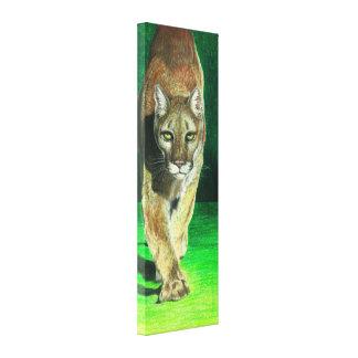 Prey, Pray Big Cougar Cat Canvas Print
