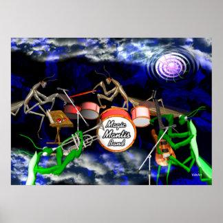 Preying mantis magic rock band poster