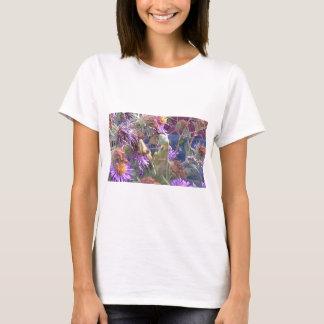 Preying Mantis  & Purple Cone Flowers T-Shirt