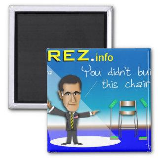 PREZ.info 2 Inch Square Magnet