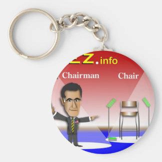 PREZ.info - Chairman vs Chair Basic Round Button Keychain