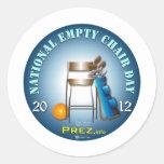 PREZ.info - Empty Chair 2 Classic Round Sticker