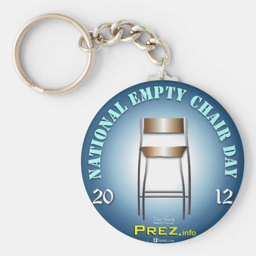 PREZ.info - Empty Chair 3 Basic Round Button Keychain