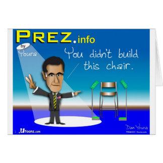 PREZ.info Greeting Card