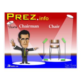 PREZ info - presidente contra silla Tarjeta Postal