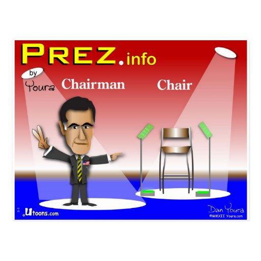 PREZ.info - presidente contra silla Tarjetas Postales