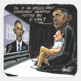Prez Obama pone los E.E.U.U. en la facilidad sobre Calcomanías Cuadradass
