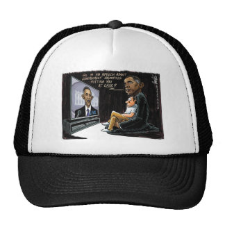 Prez Obama Puts US at Ease about NSA Spying Trucker Hat