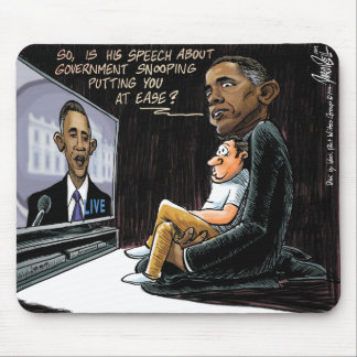 Prez Obama Puts US at Ease about NSA Spying Mouse Pad