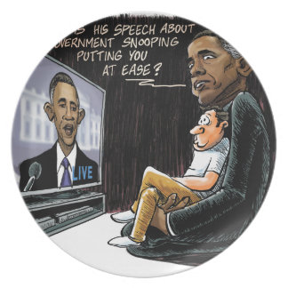 Prez Obama Puts US at Ease about NSA Spying Party Plates