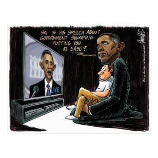 Prez Obama Puts US at Ease about NSA Spying Postcard