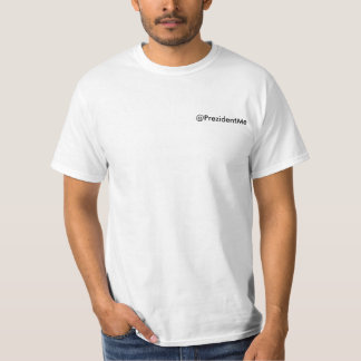 @PrezidentMe pocket size writing T-Shirt