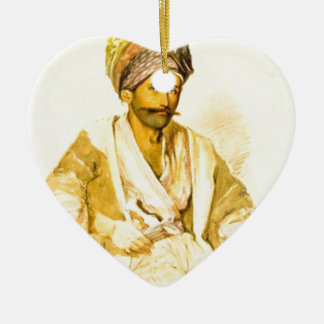 Preziosi Abdullah Kurd from Bitlis 1852 Ceramic Ornament