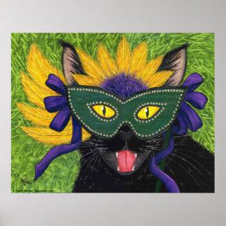 Pri salvaje del arte de la máscara de New Orleans Posters