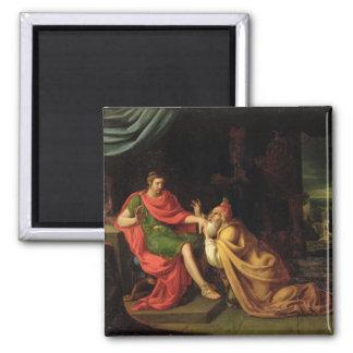 Priam and Achilles 2 Inch Square Magnet