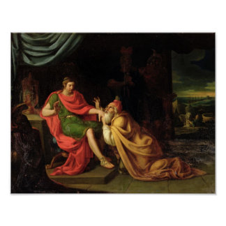 Priam and Achilles Poster