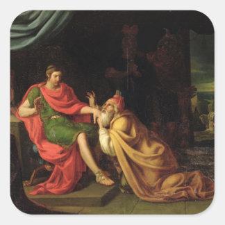 Priam and Achilles Square Sticker