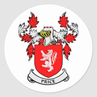 PRICE Coat of Arms Classic Round Sticker