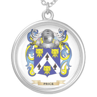 Price Coat of Arms (Family Crest) Round Pendant Necklace