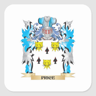 Price Coat of Arms - Family Crest Square Sticker