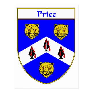 Price Coat of Arms (Ireland) Postcard