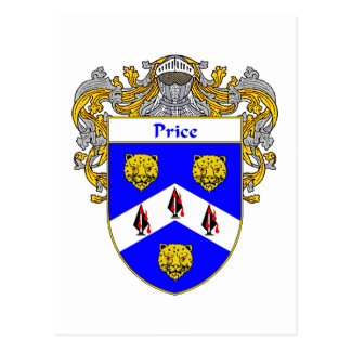 Price Coat of Arms (Mantled) Postcard