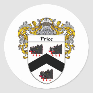 Price Coat of Arms Wales (Mantled) Classic Round Sticker