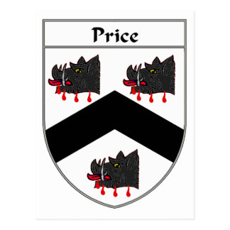 Price Coat of Arms (Wales) Postcard