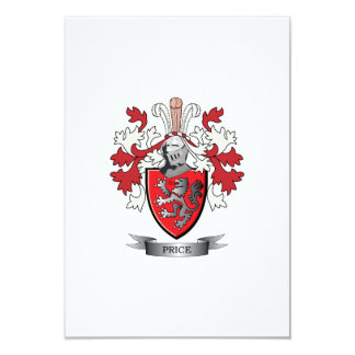 Price Family Crest Coat of Arms Card