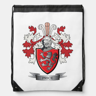Price Family Crest Coat of Arms Drawstring Bag