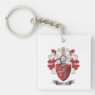 Price Family Crest Coat of Arms Keychain