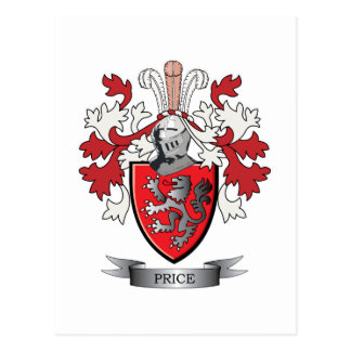 Price Family Crest Coat of Arms Postcard