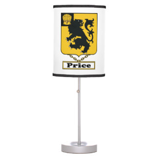 Price Family Crest Desk Lamp