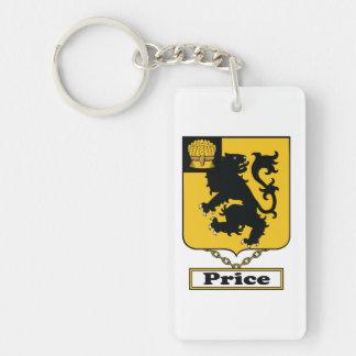 Price Family Crest Single-Sided Rectangular Acrylic Keychain