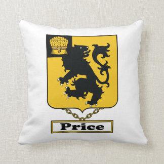 Price Family Crest Throw Pillow