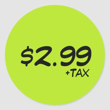 Professional Business Price Label With Tax