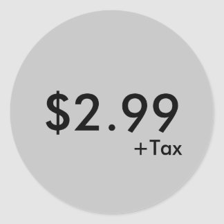 Price Label With Tax Sticker